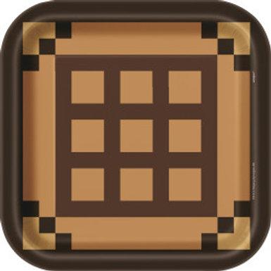 "Minecraft 9"" Square Plates"