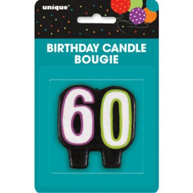 Birthday Cheer Number 60 Birthday Candlee