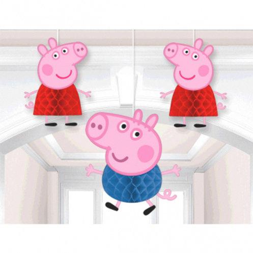 Peppa Pig™ Honeycomb Decorations