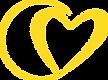 Kiki Kirby Coaching - Heart only YELLOW.