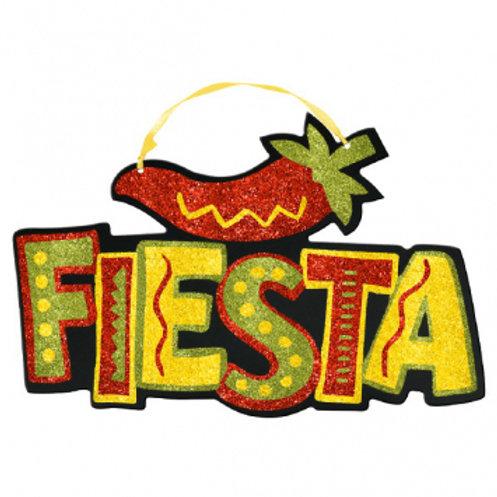 Fiesta Sign Glitter