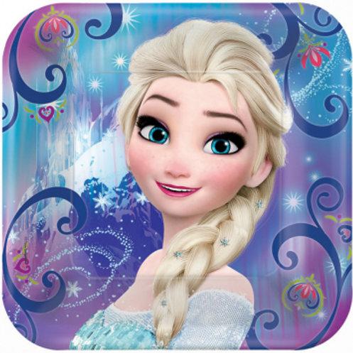 """Frozen Magic 9"""" Square Plates"""