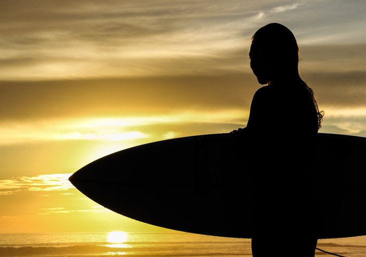"""Sunset Soul Surfer"" Ensenada, Mexico. 2018"