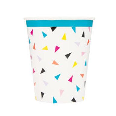 Triangle Confetti Birthday  Cups
