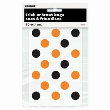 Orange & Black Dots Treat Bags
