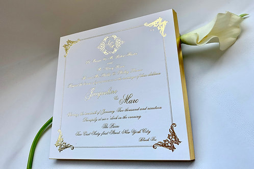Custom Foil Stamping invitations set of 4 pcs
