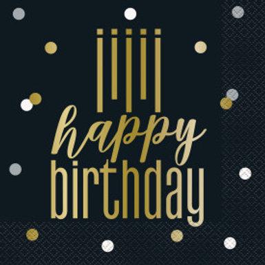 Metallic Happy Birthday Lun Nap
