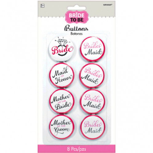 Elegant Bride Buttons