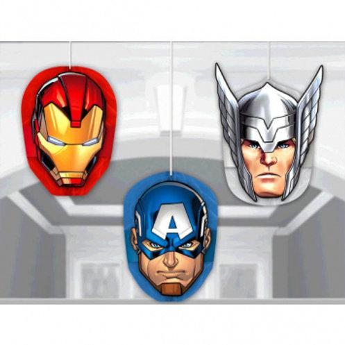 Epic Avengers™ Honeycomb Decoration