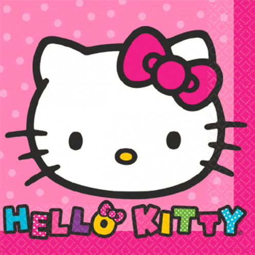 Hello Kitty Rainbow Bev Napkins