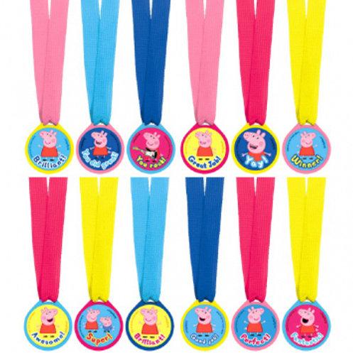 Peppa Pig Award Medals 12 Ct