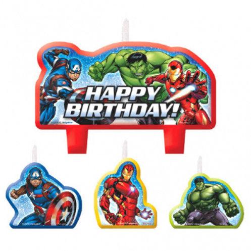 Epic Avengers Candle Birthday Set