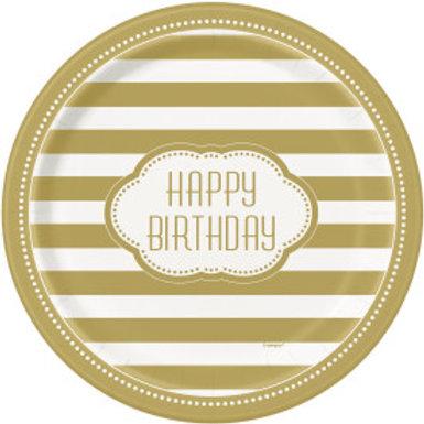 "Golden Birthday 9"" Plt"