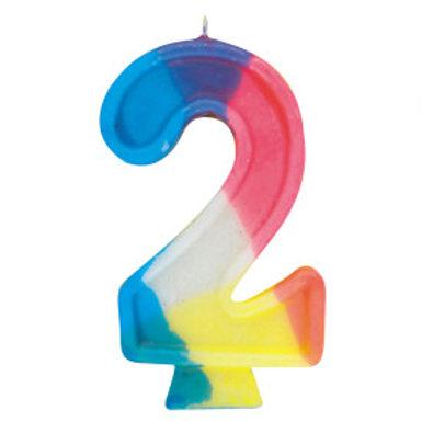 Rainbow Birthday Candle #2