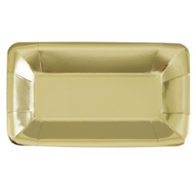 Gold Foil Rectangular Appetizer Plates