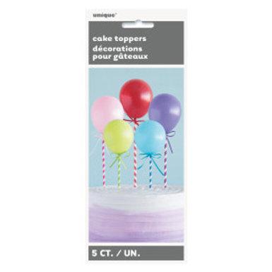 Mini Balloon Stick Cake Toppers