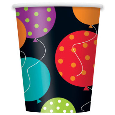 Birthday Cheer 9oz Paper Cups