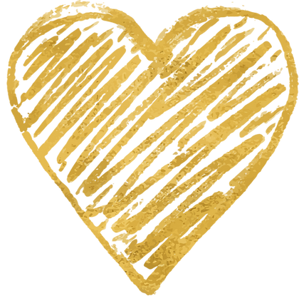 gold heart scribble
