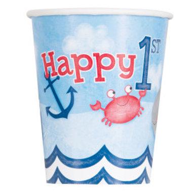 Nautical 1st Birthday 9oz Cup