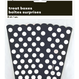 8 BLACK DOTS TREAT BOXES