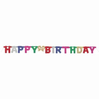 Deluxe Glitter Birthday Jtd Banner