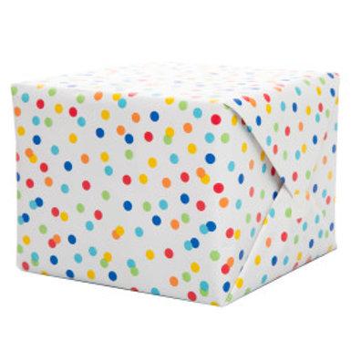 Rainbow Polka Dots Gift Wrap