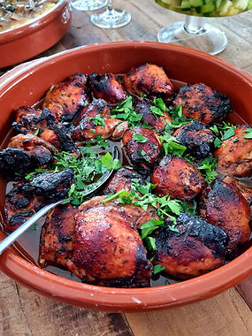 Oven Roasted Honey Balsamic Chicken Thighs
