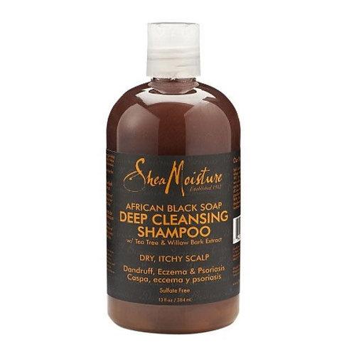 Shea moisture african black soap deep cleansing shampoo 12oz