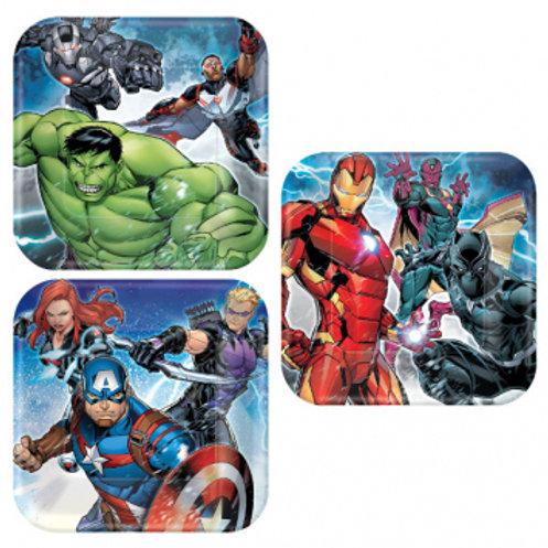 Epic Avengers Square Dessert Plates