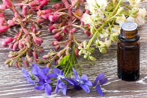 Dropper bottle of bach flower essence on