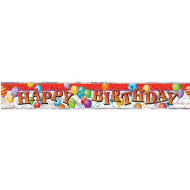 Happy Birthday Balloons Foil Banner