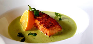 Salmon With Watercress Sauce