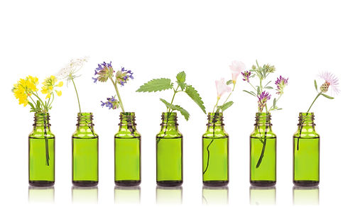 Natural remedies, aromatherapy - bottle.