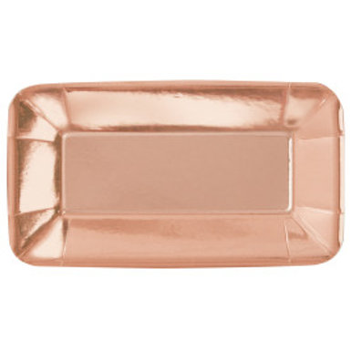 """ROSE GOLD 9""""x5"""" APPETIZER PLATE"""