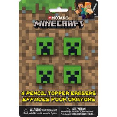 Minecraft Pencil Topper Eraser