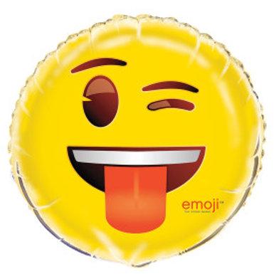 "Emoji Wink Foil 18"" Balloon"