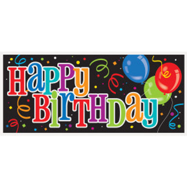 Bold Birthday Giant Wall Banner