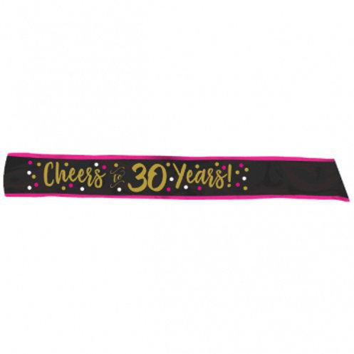 Pink and Gold Milestone 30 Fabric Sash