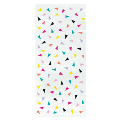 Triangle Confetti Birthday Cello Bags
