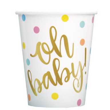 Oh Baby Gold Bs 9oz Cup