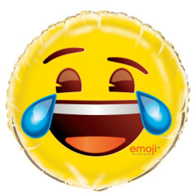"Emoji Cry 18"" Foil Balloon"