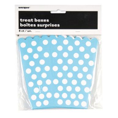 POWDER BLUE DOT TREAT BOXES