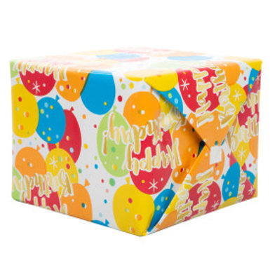 Glitzy Gold Birthday Gift Wrap