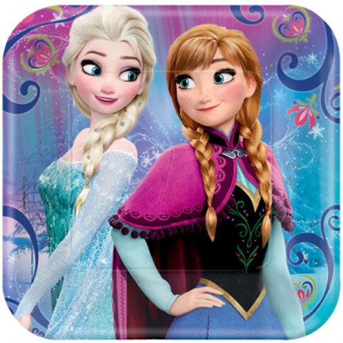 """Frozen Magic 7"""" Square Plates"""