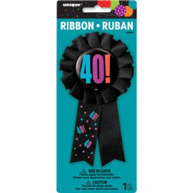 Birthday Cheer Age 40 Award Badge