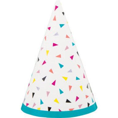 Triangle Confetti Birthday Mini Party Hats