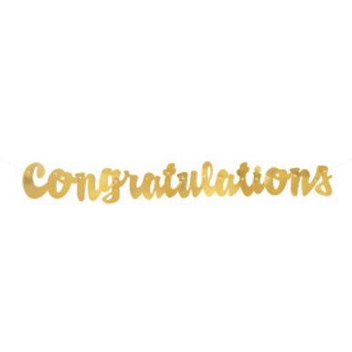 Gold Script Congrats Banner