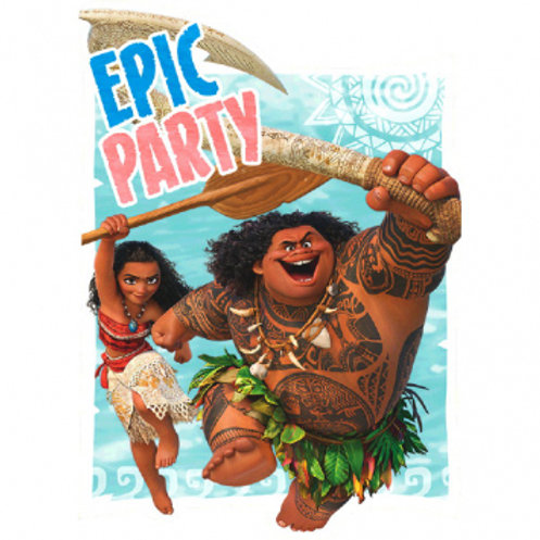 Disney Moana Postcard Invitation