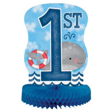 Nautical 1st Birthday Ppr Hnycmb Cpiece