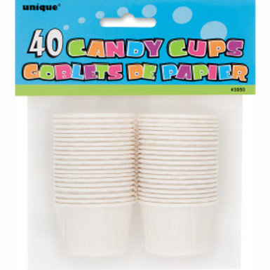 40 CANDY CUPS - WHITE